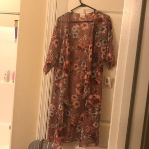 Lularoe Shirley pretty mauve with floral.